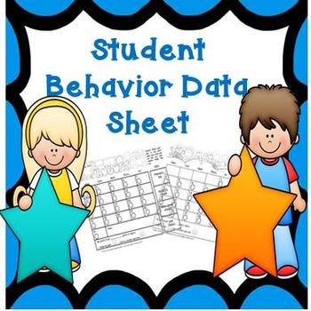 Student Behavior Data Sheet