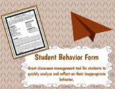 Student Behavior Form