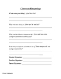 Student Behavior Letters- Bilingual English and Spanish