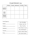 Student Clip Chart Behavior Log
