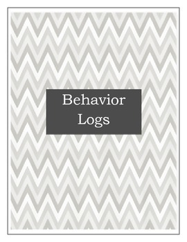 Student Behavior Log Turquoise & Gray- For quick documentation (2 color choices)