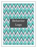 Student Behavior Log Turquoise & Gray- For quick documenta