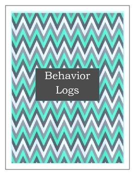 Student Behavior Log Turquoise & Gray- For quick documenta