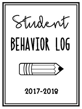 Student Behavior Log