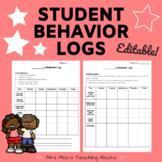 Student Behavior Log (Editable!)