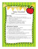 Student Behavior: On-Task Checklist (Daily)
