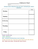Daily Student Behavior & Parent Communication Chart