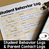 Student Behavior & Parent Communication Logs