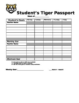 Student Behavior Passport and Data Collection