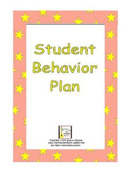 Student Behavior Plan (Identifying and Correcting the Behavior Problem)