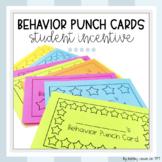Student Behavior Punch Cards