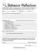 Student Behavior Reflection Form