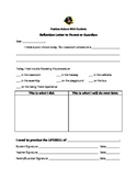 Student Behavior Reflection Form - Positive Reinforcement