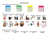 Student Behavior Self Reflection Sheet