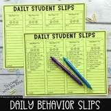 Daily Behavior Slip: Daily Behavior Management Tool {2 versions}
