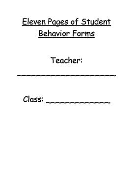Student Behavior Sticky Sheet