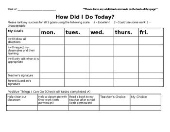Student Behavior Tracker