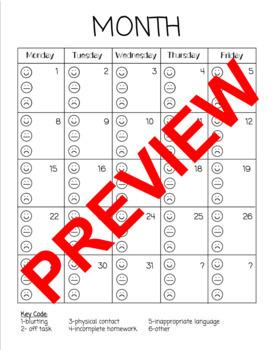 Student Behavior Tracker (Editable)