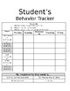 Student Behavior Tracker Template