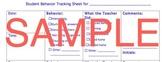 Student Behavior Tracking Sheet