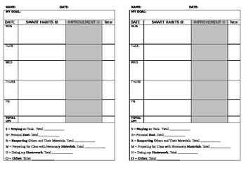 Student Behavior Tracking Template