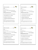 Classroom management: Student Behavior note