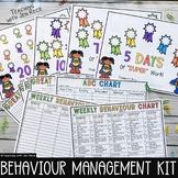 Weekly Behaviour Charts + Tally Sheets and ABC Chart {UK English}