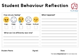 Student Behaviour Reflection Sheet for PE - The PE Shed - Free