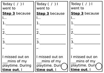 Student Behaviour Step 3 Slip