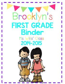Student Binder- Editable