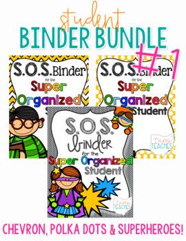 Student Binder BUNDLE #1! [THREE different S.O.S. Binders!]