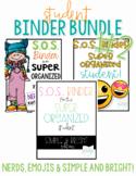 Student Binder BUNDLE #2! [THREE different S.O.S. Binders!]