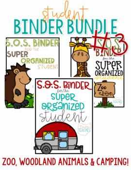 Student Binder BUNDLE #3! [THREE different S.O.S. Binders!]