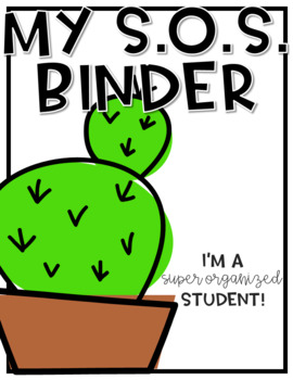 Student Binder BUNDLE #4! [THREE different S.O.S. Binders!]