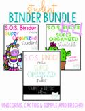Student Binder BUNDLE #4! [THREE different S.O.S. Binders!]