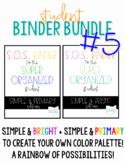 Student Binder BUNDLE #5! [TWO Simple S.O.S. Binders!]