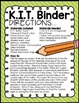 Editable Student Binder {Brights Classroom Set}: Binder Organization and Labels