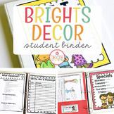 EDITABLE STUDENT BINDER OR TAKE HOME FOLDER {BRIGHTS CLASSROOM DECOR}
