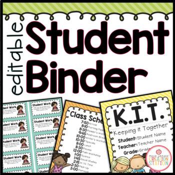 Student Binder {Brights Classroom Set}: Binder Organizatio