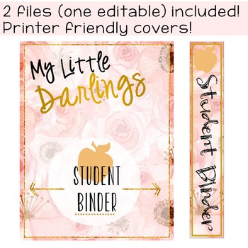 Student Binder - Brilliant Teacher Floral Design