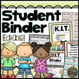 Editable Student Binder {Chevron Classroom Set}: Binder Organization and Labels