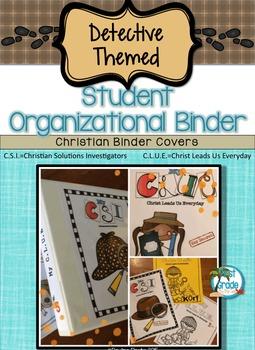 Student Binder, Christian Detective Themed editable