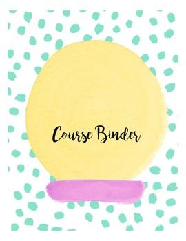 Student Binder Course Organizer