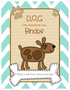 Student Binder Cover: Dog Theme