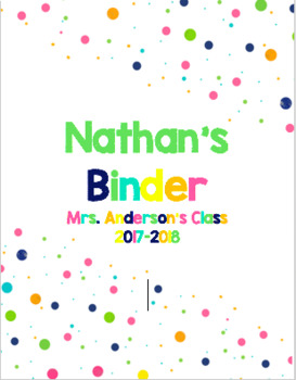 Student Binder Cover (Editable)