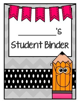 student binder cover pages by alison lederer teachers pay teachers