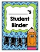 Student Binder Cover Pages