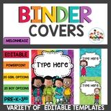 Student Binder Covers Editable