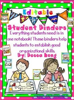 Student Binder Covers - Editable
