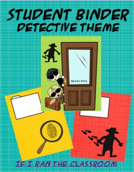 Student Binder Detective Theme